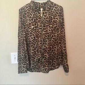 Micheal Micheal kors zip up cheetah shirt